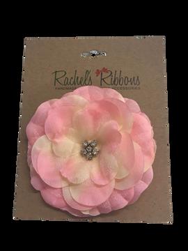 Precious Petal Flower Clip on Large Bow Card
