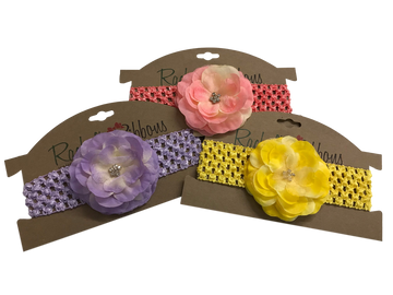 Crochet Headband with Precious Petal Flower Grouping