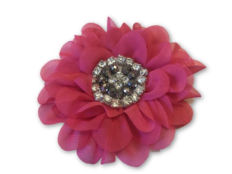 Jewel Peony Flower Clip