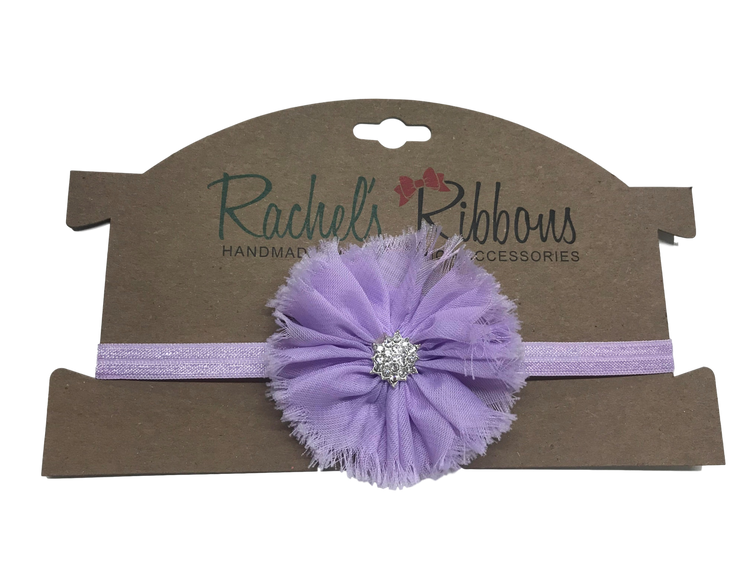Skinny Stretch Headband w/ Jewel Ballerina