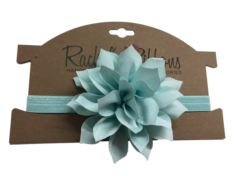 Satin Stretch Headband w/ Lily