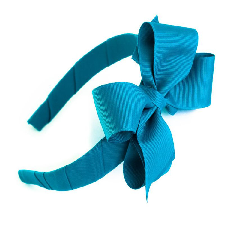 "1"" Hard Headband With Bow"