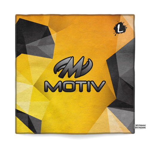 Motiv Yellow Polygon Sublimated Towel