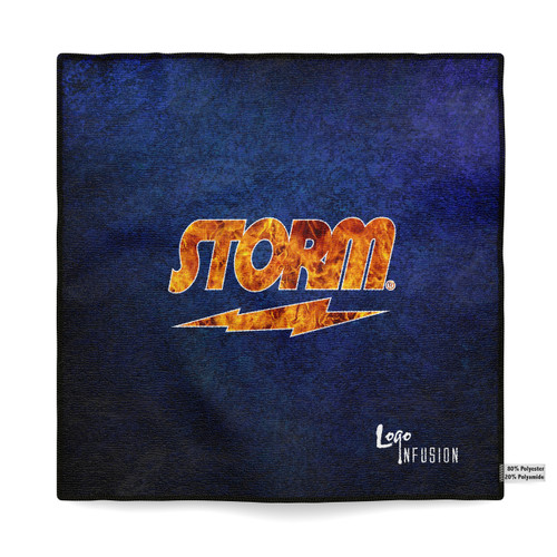 Storm Blue Grunge Flame Sublimated Towel