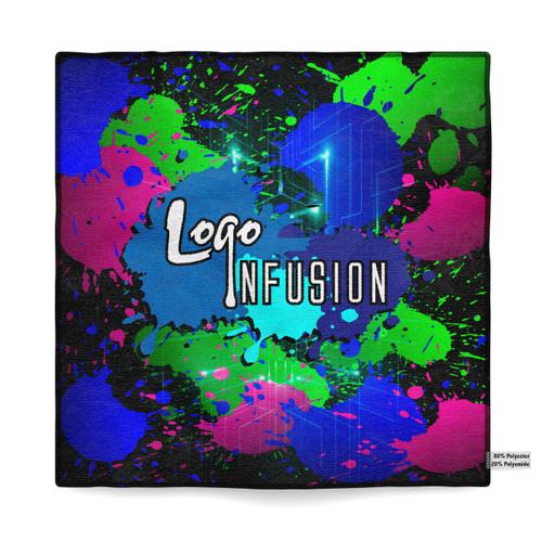 Logo Infusion Energy Splatter Dye Sublimated Towel