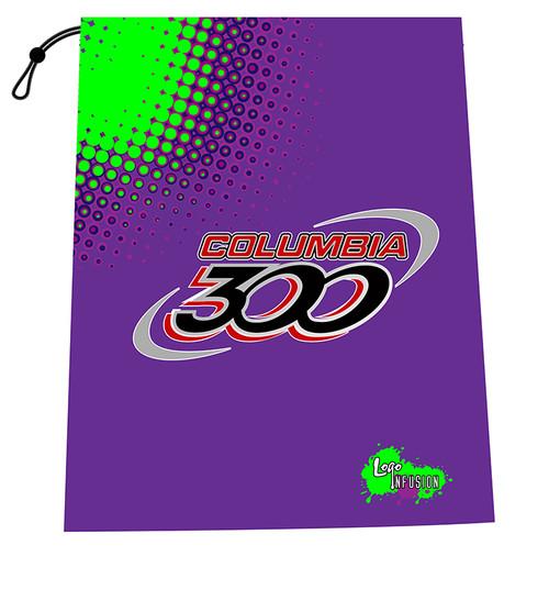 Columbia 300 Purple/Green Dots Shoe Bag