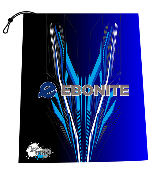 Ebonite Blue Fletching Shoe Bag
