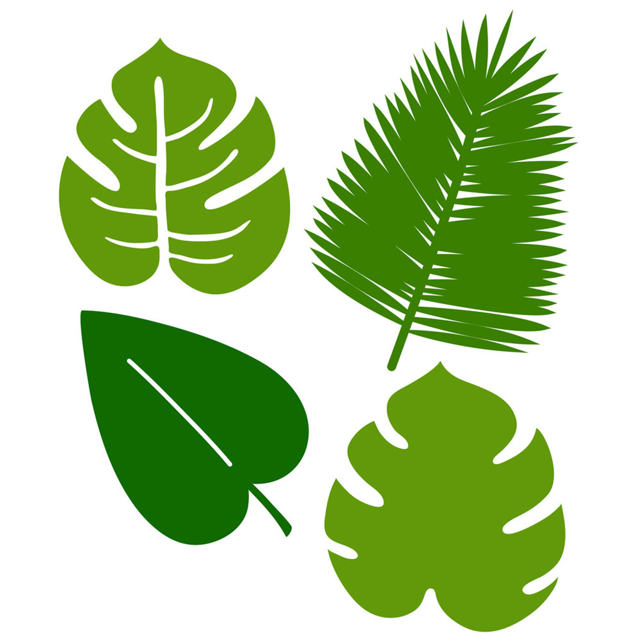 4 Tropical Leaves