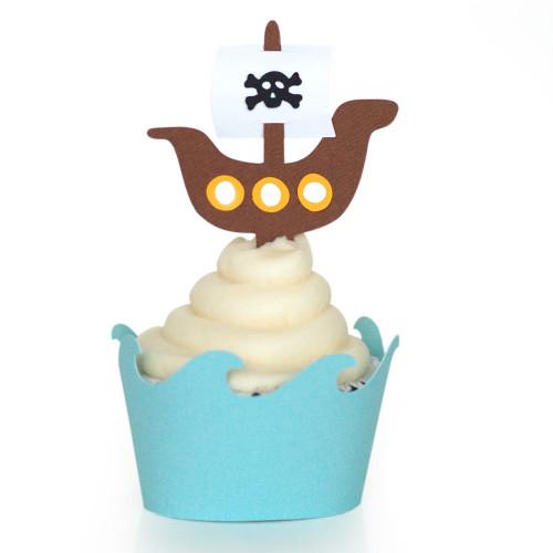 Pirate Cupcake Wrapper: Big Ship