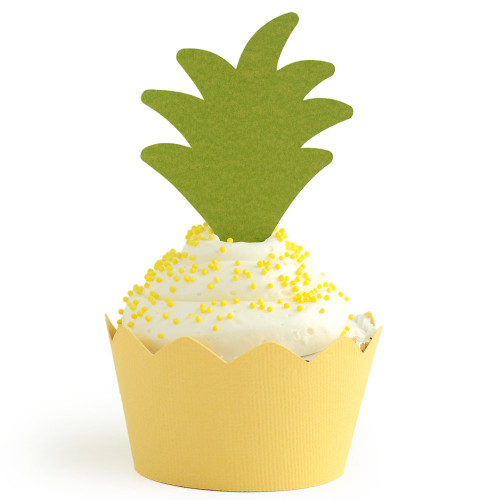 Tropical Cupcake Wrapper: Pineapple