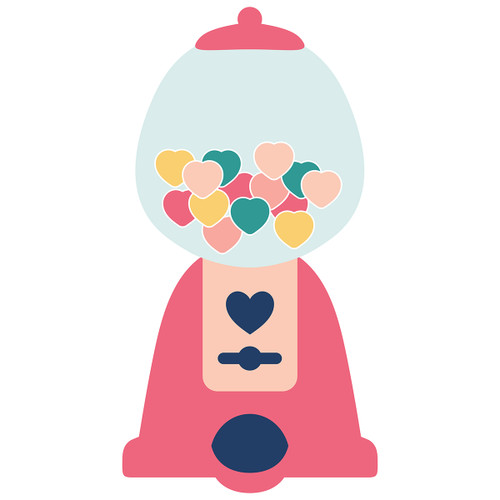 Heart Bubble Gum Machine