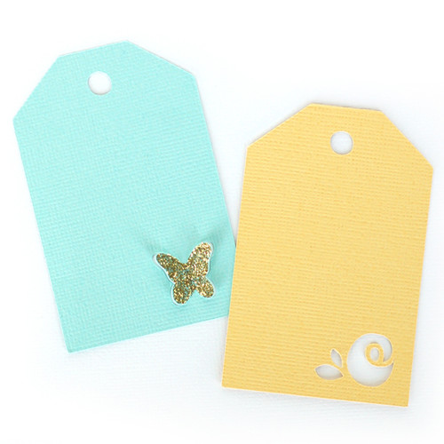 Butterfly + Rose Tags