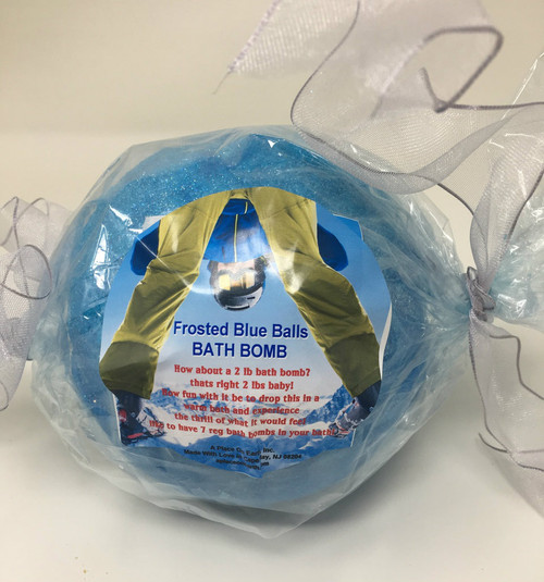 Frosted Blue Balls Bath Bomb