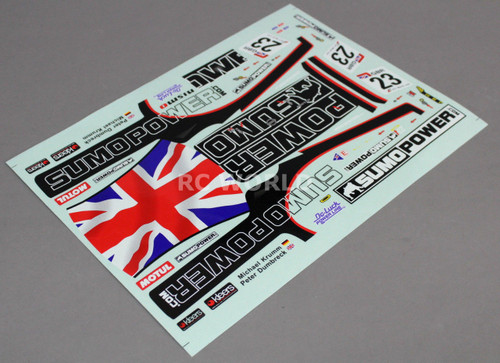 RC Car Truck RACING Drift DECALS Stickers SUMO POWER Nissan GTR Logos Sponsors