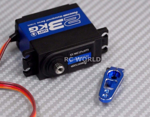 WATERPROOF HighTorque METAL Gear CORELESS SERVO 23KG For RC Trucks + METAL HORN