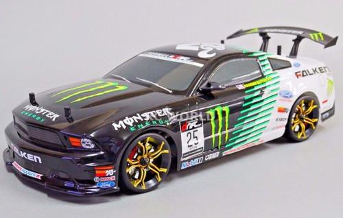 Custom RC 1/10 Drift FORD MUSTANG Monster Energy AWD Belt CAR RTR