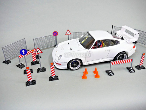 RC 1/10 Scale Accessories DRIFT TRACK -ROAD SIGNS -GATES - CONES CONSTRUCTION