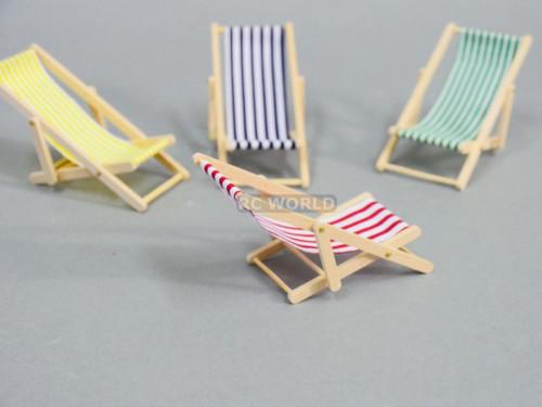 RC 1/10 Scale Accessories BEACH CHAIRS Foldable Chair (4 Chair Set)