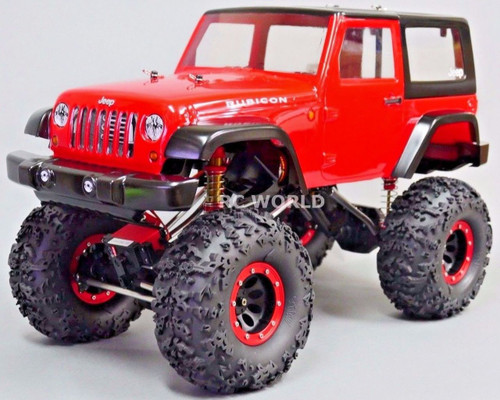 Custom 1/10 RC JEEP WRANGLER RUBICON 4X4 2.2 Rock Crawler *RTR*