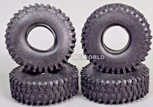 RC 1/10 TRUCK Tires SUPER SWAMPERS 1.9 ROCK TIRE 120mm W/ Foam