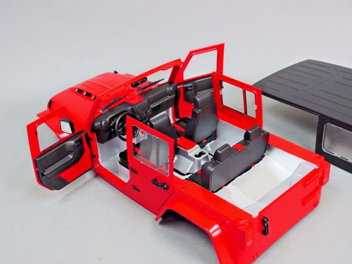 Axial RC Scale Truck Body  Shell 1/10 JEEP WRANGLER RUBICON Hard Body + ROLL BARS