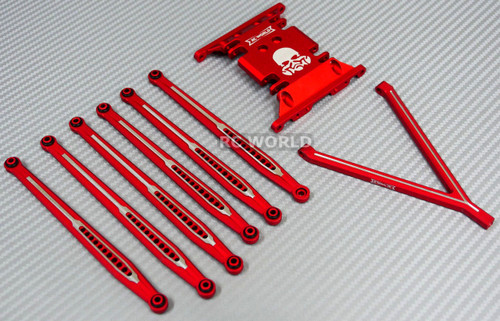 AXIAL SCX10 Metal SKID  PLATE + Front & Rear METAL TRAILING ARMS + Hardware