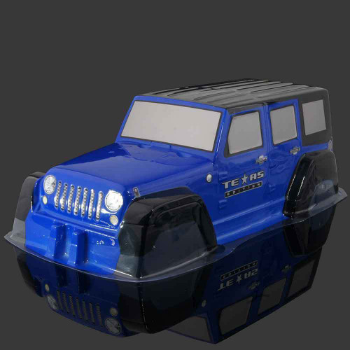 Axial SCX10 Truck Body Shell JEEP WRANGLER  RUBICON Crawler Pre-Painted Blue