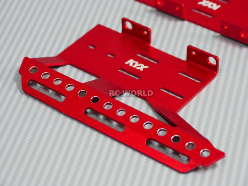 Axial SCX10 II Side Guard SKID PLATES  Left + Right Red