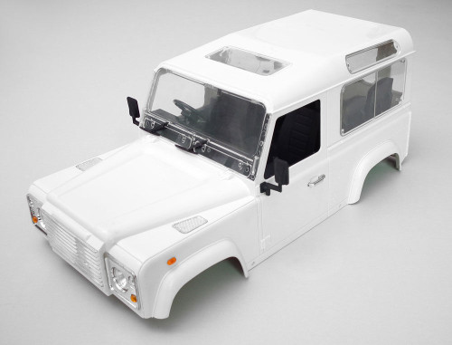 RC 1/10 Scale Truck HARD Body Shell LAND ROVER DEFENDER 90 W/ INTERIOR