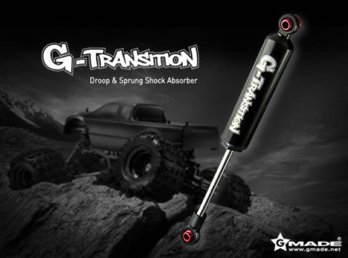 RC 1/10 TRUCK Suspension G-TRANSITION 90MM SHOCK ABSORBER Aluminum BLACK < 4 SET