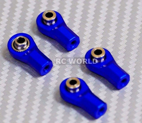 M3 METAL  ROD ENDS For Aluminum Link Ends  BLUE (4PCS)