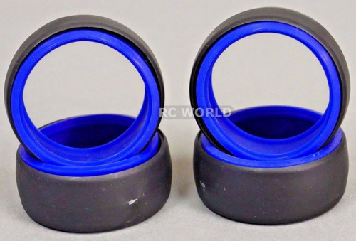 RC 1/10 DRIFT TIRE Package W/ COLOR RINGS - BLUE