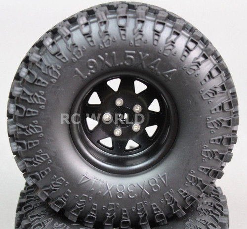 Scale RC Truck Metal 1.9 WHEELS RIMS Swamper Package W / Spare Wheel 115mm (5pc)