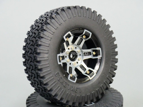 1/10 Scale TRUCK Metal 1.9 BEADLOCK WHEELS & TIRES 99mm Plus SPARE -Set Of 5