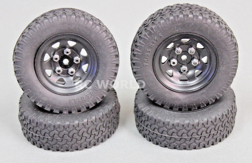 RC4WD Scale Truck Metal Wheels 5 LUG STAMPED W / DIRT GRABBER 1.9 + SPARE (4 pcs)