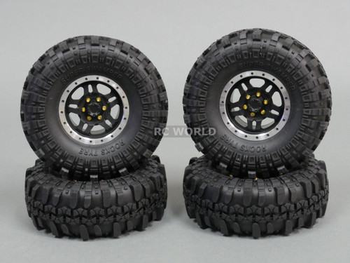 RC 1/10 Rubber TRUCK Tires SUPER SWAMPERS 1.9 ROCK CRAWLER Wheels 108 mm W/ Foam