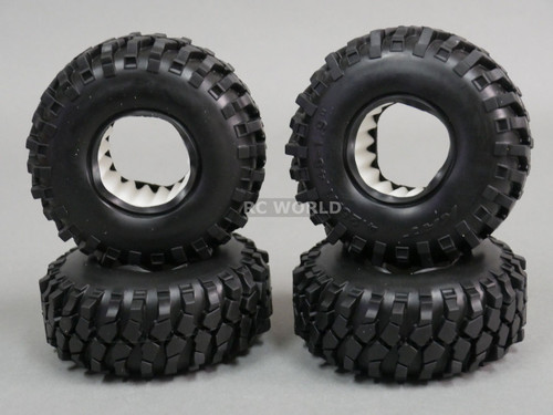 RC 1/10 Rubber TRUCK Tires KNOBBY SWAMPERS 1.9 ROCK CRAWLER Wheels 105 mm W/ Foam