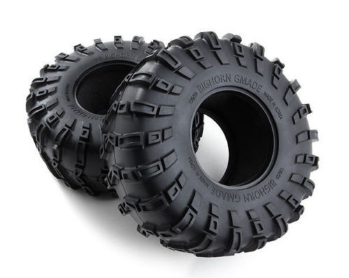 Gmade BIG HORN RC 1/10 TRUCK TIRES 2.2 Bead lock ROCK CRAWLER Rubber TIRES