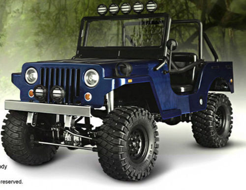 RC Truck Body Shell 1/10 SawBack SPORTS JEEP WRANGLER WILLYS MILITARY JEEP - NEW