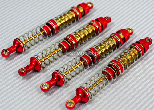 Axial SCX10 Jeep Honcho METAL SUSPENSION SHOCKS Dual Rate 130 MM RED/GOLD (4 pcs)