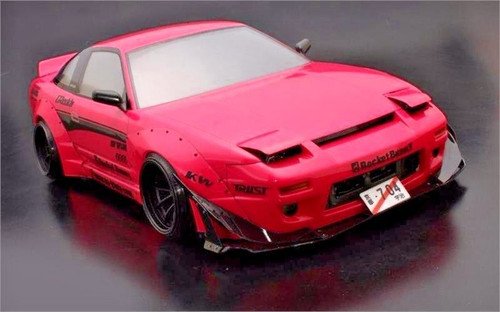 1/10 RC Rocket Bunny NISSAN 180 180 SX Drift WIDE Body Kit Rodeo V.2