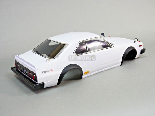 1/10 RC Car BODY Shell NISSAN SKYLINE HT 2000 190 mm *FINISHED* WHITE