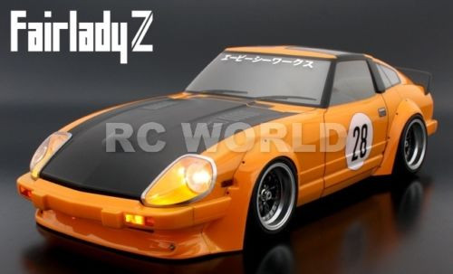 1/10 RC Car Body Shell DATSUN NISSAN Z FAIRLADY 280Z WIDEBODY Drift 200 MM