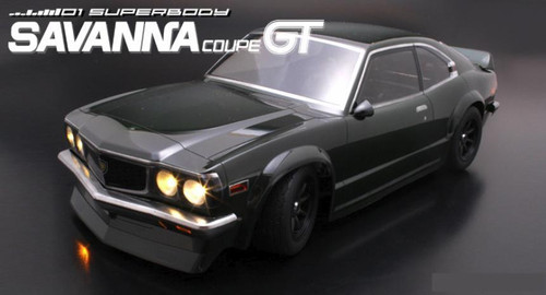 1/10 RC Car Body Shell MAZDA SAVANNA GT COUPE 190 mm For Tamiya Chassis