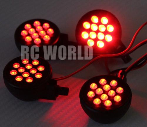 RC 1/8 1/5 Buggy Truggy Car Truck POWERFUL LED LIGHT HEADLIGHT Red