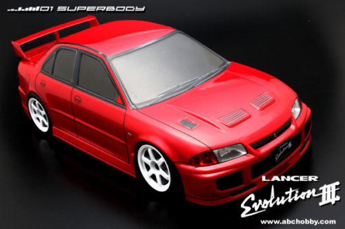 1/10 RC Car BODY Shell MITSUBISHI EVO LANCER EVOLUTION Drift 190mm