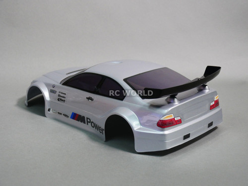 1/10 RC Car BODY Shell BMW E46 M3 200 mm *PRE- FINISHED* Silver