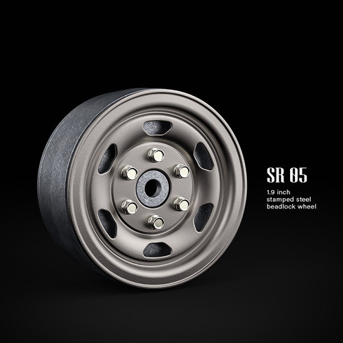 SR05 1.9inch beadlock wheels (Uncoated steel) (2)