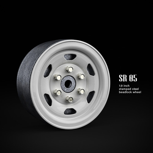 SR05 1.9inch beadlock wheels (Gloss white) (2)