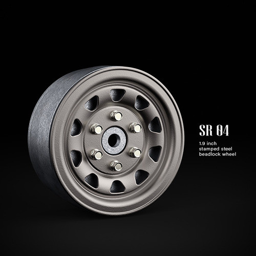 SR04 1.9inch beadlock wheels (Uncoated steel) (2)